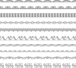 Seamless Doodle Border and Frame Elements