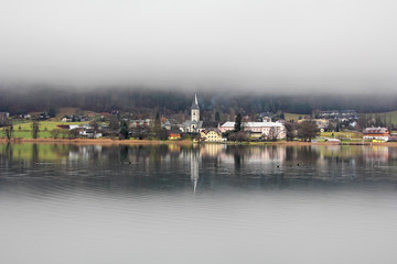 Foggy day at the Ossiacher See