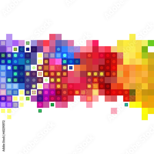Abstract colorful mosaic banner & background design