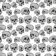 Seamless Skulls White