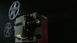 16 mm movie projector projecting film