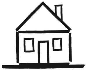 Haus mit Satteldach - vektor abstrakt