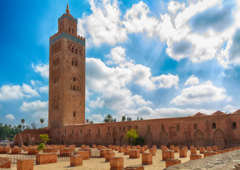 Koutoubia Moschee, Marrakesch, Marokko