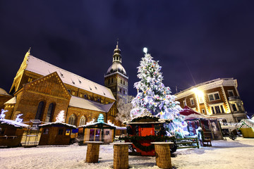 Christmas time in Old Riga, Latvia