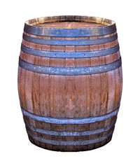 Wooden retro barrel