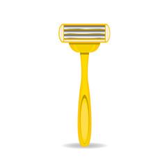 vector razorz icon isolated on white, disposable razor.