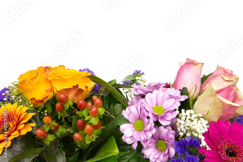 Spoed canvasdoek 2cm dik Gerbera Zwei bunte Blumenstraeusse 2