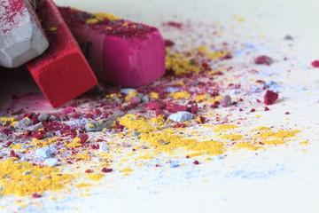 Pastellkreide pink grau 7
