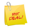 hot deal post illustration design