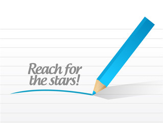 reach for the stars message illustration design