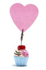 Ice cream Sticky note holder, with a heart sticky note