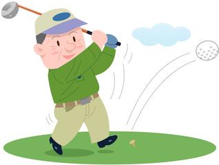 ゴルフを楽しむシニア
