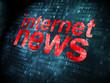 News concept: Internet News on digital background