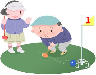 グランドゴルフカップル