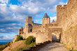 La Porte De Aude with great sky at late afternoon in Carcassonne