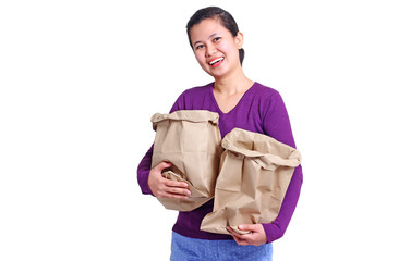 Lady With Paper Bags