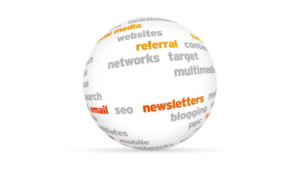 Web marketing Word Sphere
