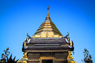 Buddhist temple, Wat Phra That Doi Suthep, Chiang Mai, Landmark