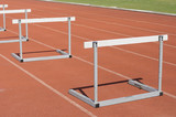 Many hurdle races on race tracks.