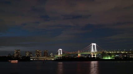 東京お台場の夕暮れ(インターバル動画)