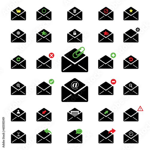 black icon email