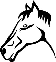 Horse tribal tattoo illustration
