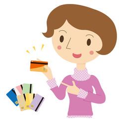カード選び 女性