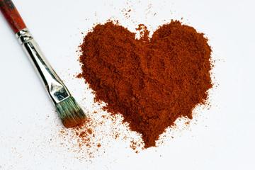 Heart of pepper