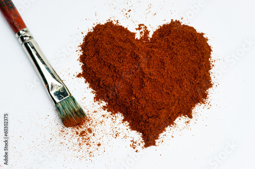 Heart of pepper