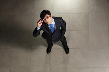 Young businessman in glasses