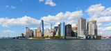 Beautiful view of New York City financial district - 60303198