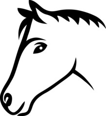 Face horse tribalillustration