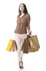 Fashion Asian shopping woman