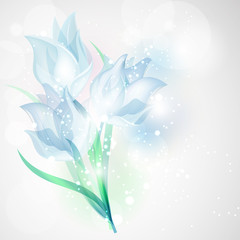 Snowdrop flowers.Floral card for design