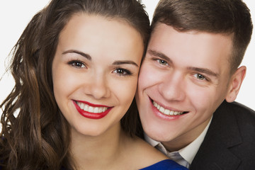 Beautiful young happy smiling couple