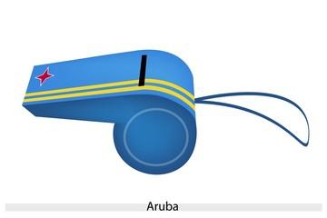 Yellow Stripe on Blue Whistle of Aruba