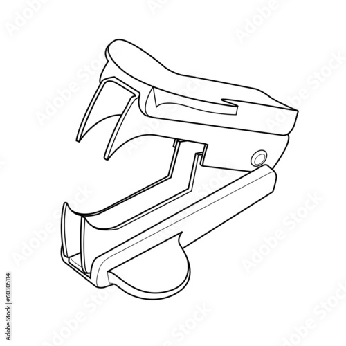 staple removers out line vector