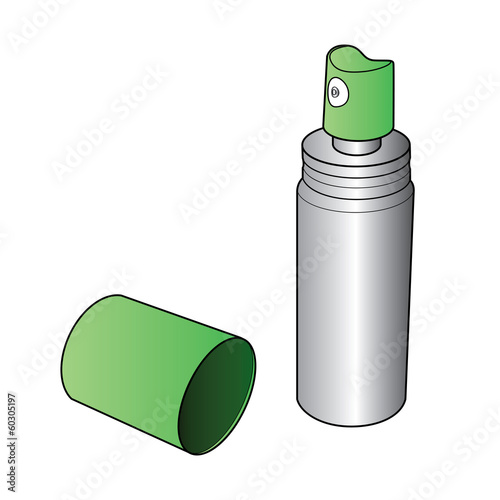 Oral Spray Bottle vector