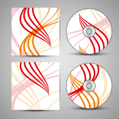 Vector cd cover set for your design, abstract Illustration.