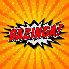 Bazinga! Comic Speech Bubble, Cartoon