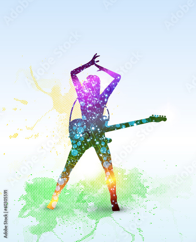 musical design, illustration of rock    easy editable