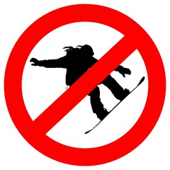 snowboarding prohibited