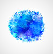 Blue watercolor blot