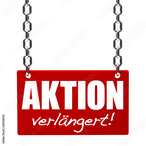 Aktion verlängert! Button, Icon