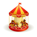 children's carousel with horses