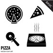 Pizza icons collection. VECTOR illustration.