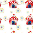 Seamless design with carnival tents