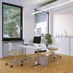 schöner arbeitsplatz auf parkett - beautifull workplace