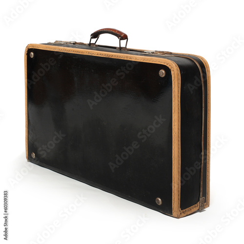 Retro suitcase from 1950s.