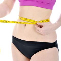 Frau schlank nach Diät